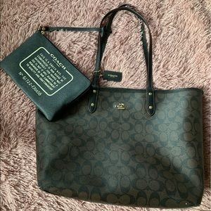 Coach Reversible City Tote with Pouch
